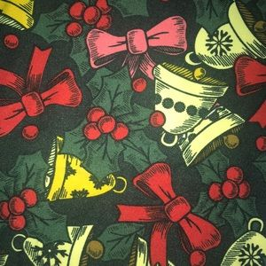 Lularoe Holly & Bell Christmas Print Leggings, TC